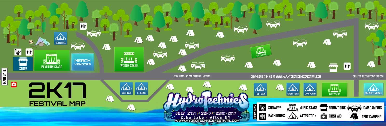 Hydrotechnics Festival 2K17 Festival Map HD