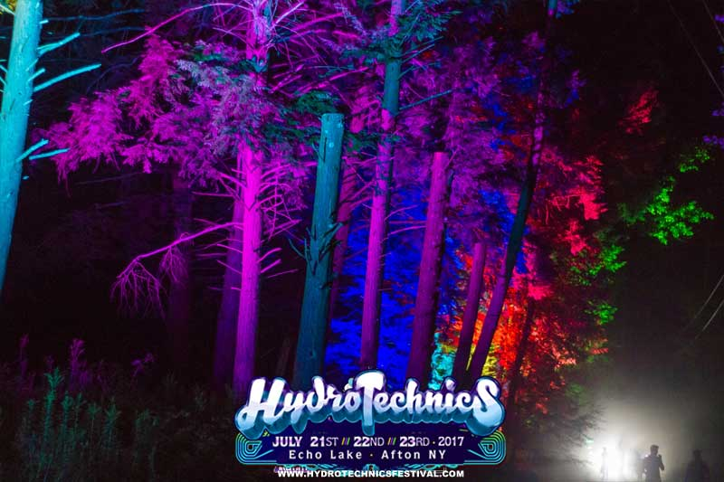 hydrotechnics festival LED forest